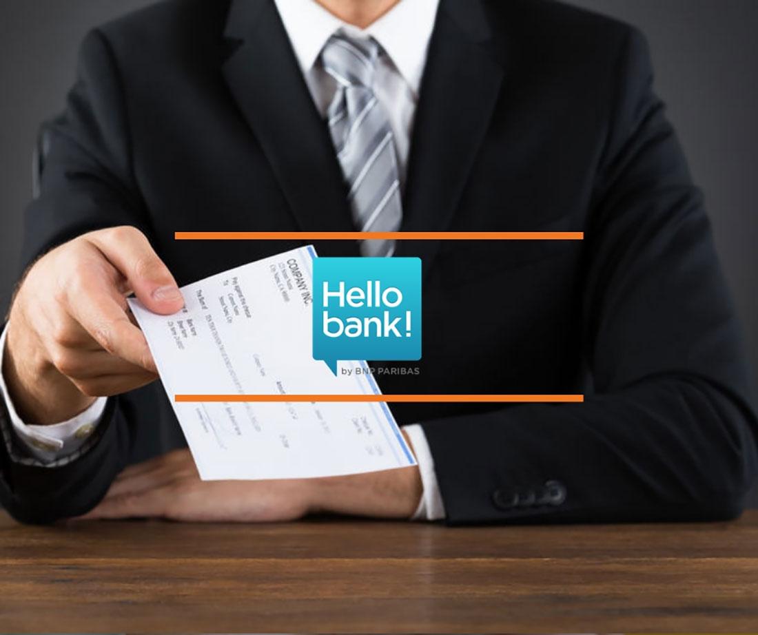 Chèque de banque Hello Bank : comment l'obtenir ?